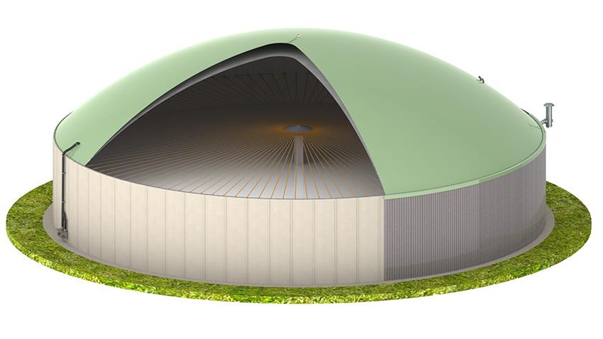 Biogasdak miniatuur overzicht