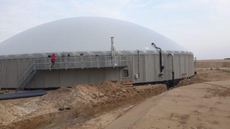 Biogasdak Brunau Duitsland
