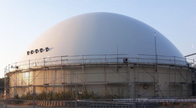 Biogasdak Langwetzendorf Duitsland