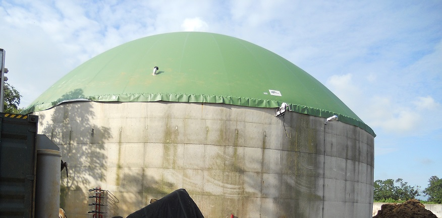 Biogasdak Stiens