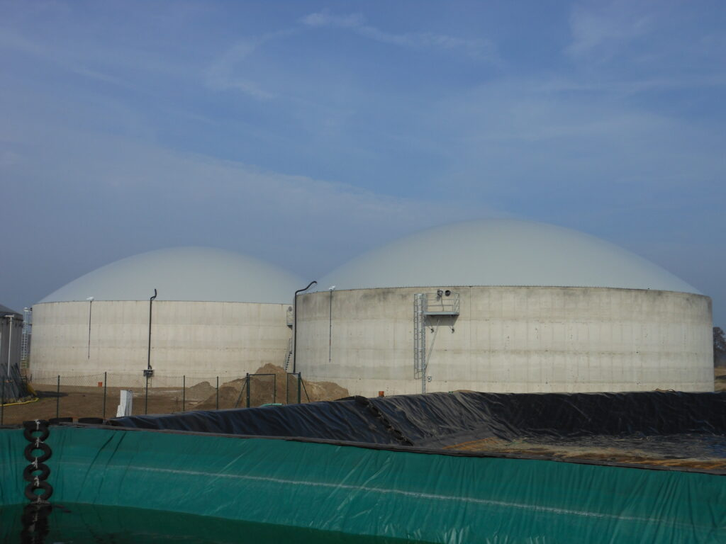 Biogasdak Rahden Duitsland