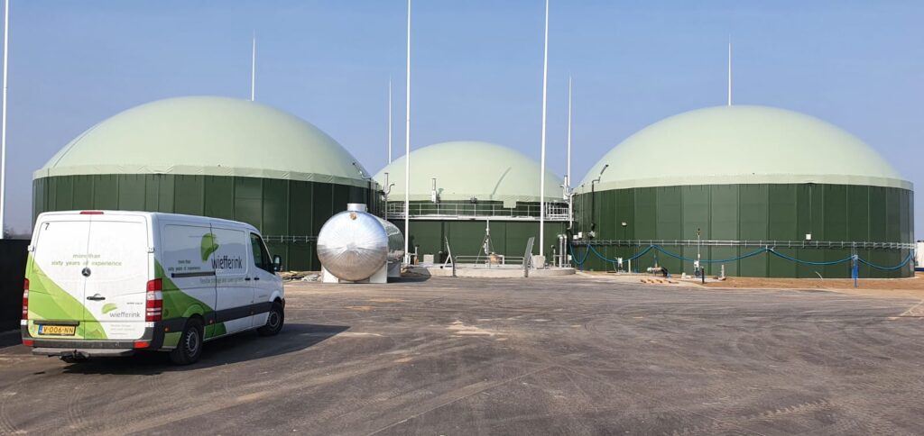 3x Biogasafdekking Krzeszyce Polen