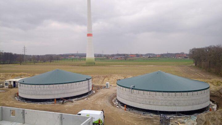 Mest silo afdekkingen Steinfurt Duitsland