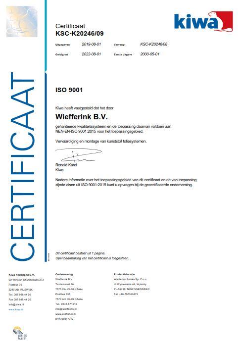 ISO certificaat NL
