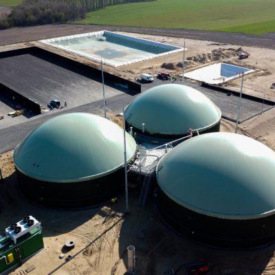 Biogasdak Falknowo Polen