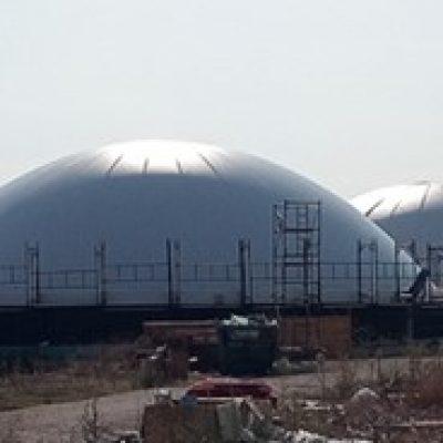 Biogasdak Larissa Griekenland